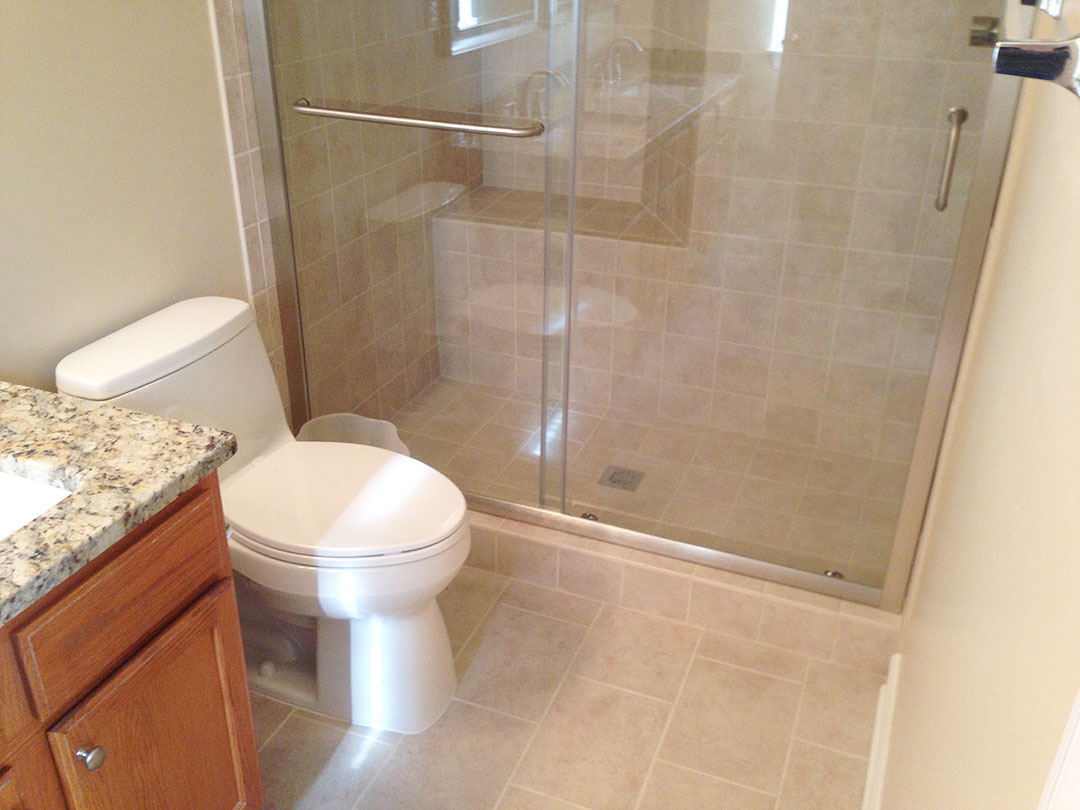 Bathroom remodel in fairfax va by ramcom kitchen bath for Bath remodel fairfax va